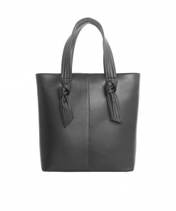 Dalca Vegan Leather Structured Bag Black