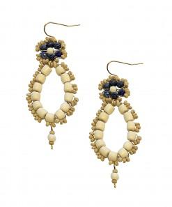 Dauphine Earrings Navy