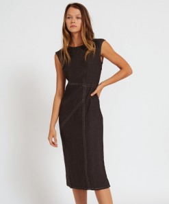 Hugo Linen Dress Black