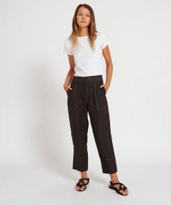 Hugo Linen Pant Black