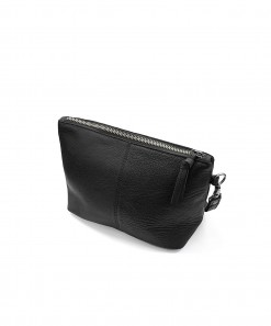 Janey Leather Clutch Black
