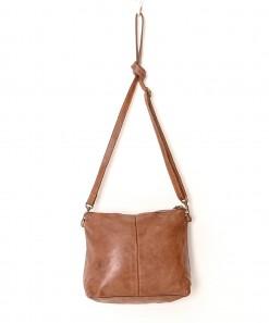Essential Leather Pouch Bag Cognac