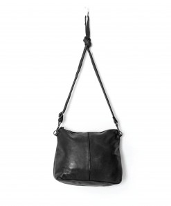 Large Essential Leather Pouch Bag Black