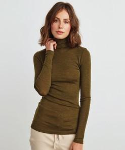 Morri Wool High Neck Olive