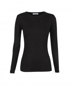 Morri Wool Round Neck Black