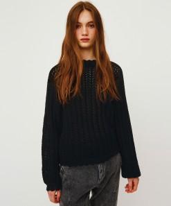 Kira Long Sleeve Pullover Black