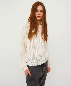 Kira Long Sleeve Pullover White