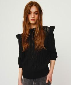 Kira Short Sleeve Pullover Black