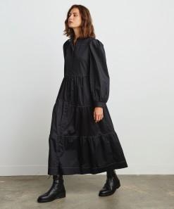 Alexa Shirt Dress Black