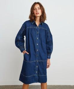 Bobbi Denim Dress Deep Blue