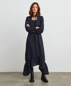 Madison Linen Dress Navy