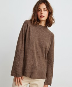 Michelle Wool & Cashmere Pullover Bark