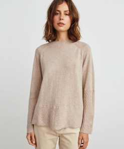 Michelle Wool & Cashmere Pullover Latte