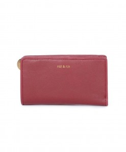Anae Leather Wallet Cherry
