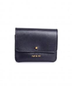 Lumi Leather Purse Black
