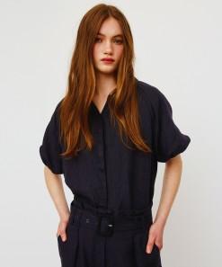 Arlow Linen Shirt Black