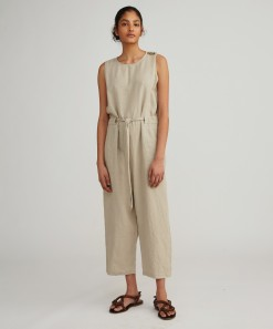 Carrie Linen Jumpsuit Natural