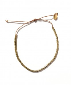 Cassandre metallic bracelet Bronze