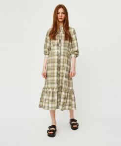 Dolly Dress Olive Check