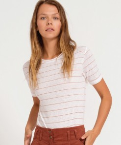 Griffith Tee Stripe White