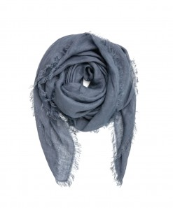 Cloth Linen Scarf French Navy