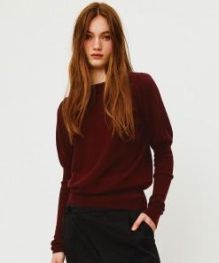 Ida Merino Wool Pullover Burgundy