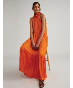 Imogen Dress Poet Tangerine