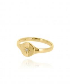 Northstar Signet Ring 9k Gold