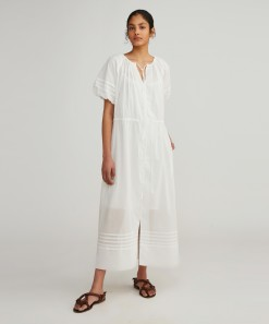Senna Dress & Slip White