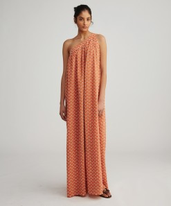 Zane Broderie Maxi Dress Jaffa