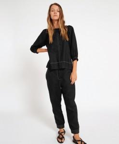 Yoko Linen Pant Black
