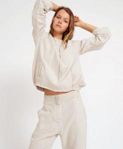Yoko Linen Hoodie Natural