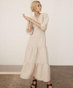 Ariya Linen Maxi Dress Shell