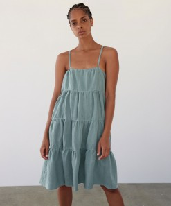Becca Linen Dress Sea
