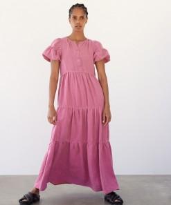Becca Linen Maxi Dress Rose