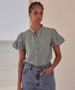 Becca Linen Shirt Sea