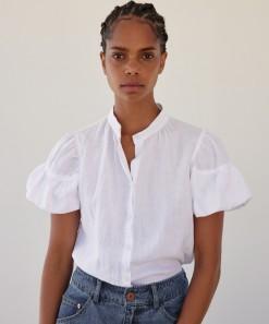 Becca Linen Shirt White