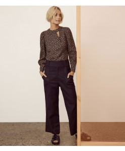 Indra Wide Leg Pant Navy