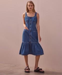 Jolie Denim Dress Blue