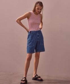 Jolie Denim Short Blue