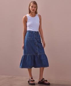Jolie Denim Skirt Blue