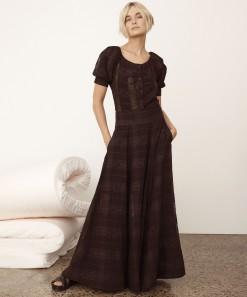 Willow Skirt Black Check
