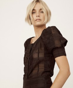 Willow Top Black Check