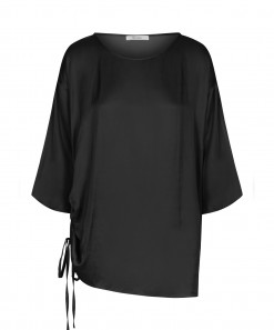 Jeremy Drawstring Top Black