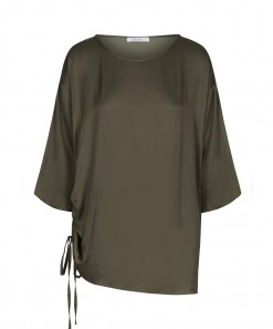 Jeremy Drawstring Top Olive