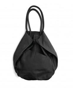 Madri Leather Tote Black