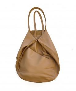 Madri Leather Tote Tan