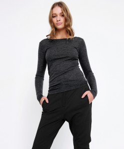 Morri Wool Round Neck Charcoal