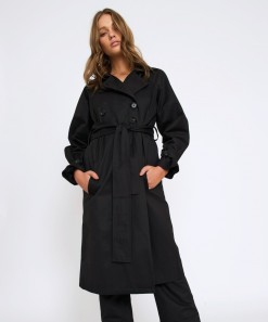 Emmanuelle Trench Coat Black