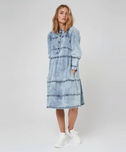 Braxton Denim Dress Acid Denim